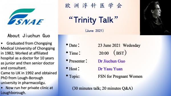 Trinity Talk (June 2021)